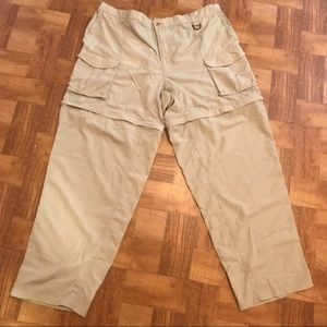 Columbia convertible pants khaki hiking fishing 2X